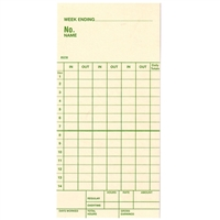 FORM 85230 Time Cards
