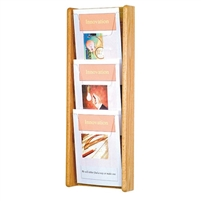 3 Pocket Oak & Acrylic Literature Display, Model ET-AC26-3