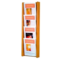 4 Pocket Oak & Acrylic Literature Display, Model ET-AC34-4