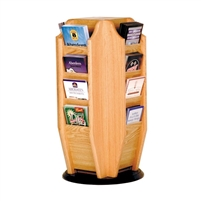 Cascade 16 Pocket Revolving Brochure Counter Display