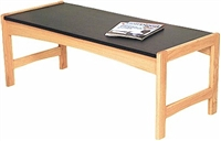 Oak Coffee Table w/ Granite Look Top