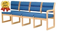 Quadruple Sled-Base Sofa