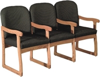 Triple Sled-Base Chair w/ Arms (Designer)