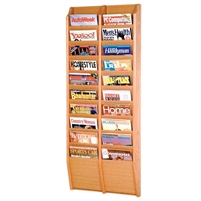 20 Pocket Oak Magazine Rack, Model ET-MR48-20