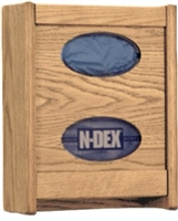 Oak Double Tissue/Glove Box Holder