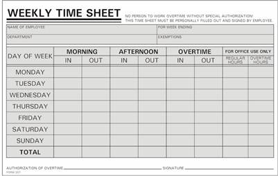 timecard conversion