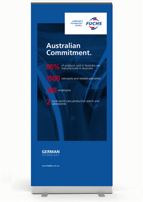 Corporate Pull Up Banner - Australian Commitment