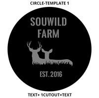 Custom Sign Circle Template 1