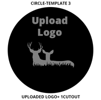 Custom Sign Circle Template 3