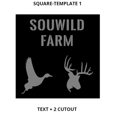 Custom Sign Square Template 1