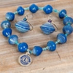 Blue Beadforlife Bracelet & Earring Set