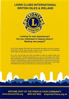 Lions Membership Poster - Yellow