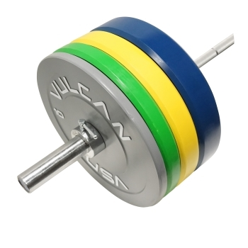 275 lb Color Bumper Plates and Olympic Bar Set