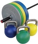Colored Bumper Plates,Olympic Bar & Kettlebell Set