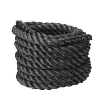 "2"" Fat Grip Black Poly Plus Battling Rope"