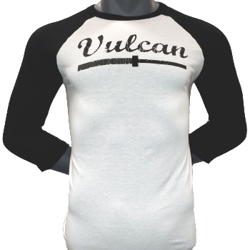 Vulcan Abused Barbell Baseball Tee- Black