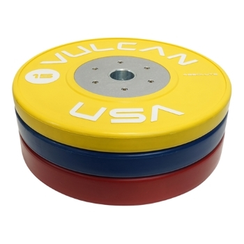 Vulcan Competition Bumper Plates - 120 kg Set