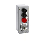 3BLM - Nema 4 Exterior Three Button With Mortise Lockout Surface Mount Control Station
