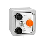 3BXL - Nema 4 Exterior Three Button With Lockout Surface Mount Control Station