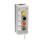 3BXLT - Nema 4 Exterior Three Button With Lockout Surface Mount Control Station