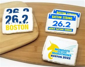 Marathon Runners Rectangle Sugar Cookies