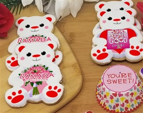 Teddy Bear Sugar Cookie Favor for Business