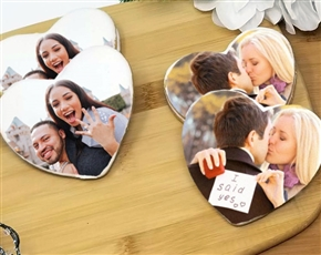 Heart-Shaped Wedding Photo Sugar Cookies