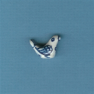 Bird Blue and White Bead