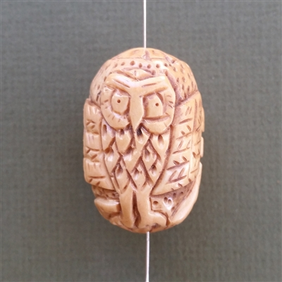 The Inscrutable Owl Bead