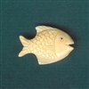 Fish Hand Carved Bone Bead