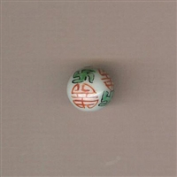 Bead-Beijing Chic-Hand painted orange 14mm