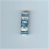Asian Blue and White Bead - Cylinder with yin yang