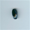 Asian Blue and White Bead - Cobalt blue, 11x20mm