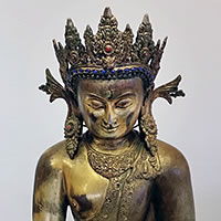 Photo of Nepalese Buddha, circa 1850