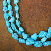 Photo of Sleeping Beauty Turquoise Necklace from Pueblo Santo Domingo