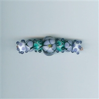 7 Am Lampwork Beads - Field of Pansies
