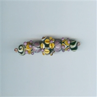 7 Am Lampwork Beads - Autumn Sunflower