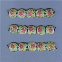 Blooming Prickly Pear Focal Beads - Set of 5