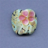 Blooming Prickly Pear Focal Bead - small