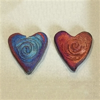 Photo of Individual Raku Heart Pendant Beads