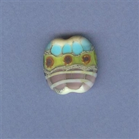 Patagonia Wildflowers Focal Bead-small