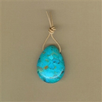 Kingman, Arizona Turquoise Teardrop Pendant
