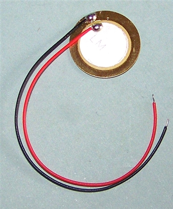 20mm Brass Piezo Disc with Leads