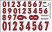 Gofer Racing Racing Numbers Red Decal Sheet 11018