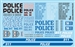 Gofer Racing Police Decal Sheet 11024