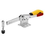 557211 Horizontal toggle clamp with safety latch. Size 4, yellow.