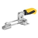 557281 Hook type toggle clamp horizontal. Size 2, yellow.