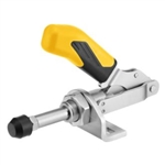 557288 Push-pull type toggle clamp. Size 0, yellow.