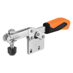 557340 Horizontal acting toggle clamp. Size 0, orange