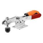 557428 Horizontal toggle clamp with safety latch. Size 4 orange.